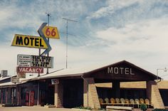 66 Motel on historic Route 66 in Holbrook, AZ. The old pool chairs are such a great touch to this time capsule. Photo by Dave Bravenec