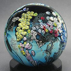 Side view of paperweight by Josh Simpson