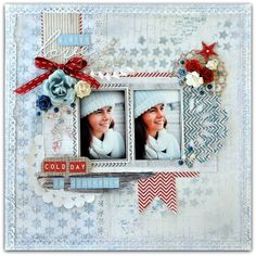 Paper and Glue Heaven: A Cold Day in Stockholm for Papirdesign. Scrapbook Layout Sketches, Scrapbooking Layouts, Digital Scrapbooking, Christmas Scrapbook Layouts, Scrapbook Cards, Winter Fun, Winter Theme, Photo Layouts, Layout Inspiration