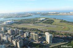 O Autódromo de Jacarepagua-RJ visto do alto de um vôo de balão