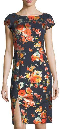 Label by Foil-Printed Midi Sheath Dress Lovely Dresses, Simple Dresses, Sheath Dress, Bodycon Dress, Kurta Style, Special Dresses, Apparel Design, Designer Dresses, Dress Outfits