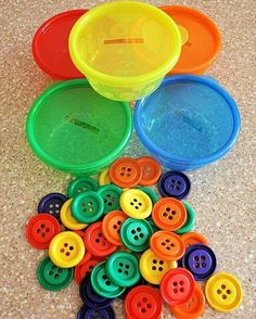Coloured buttons etc