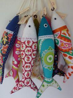 Fabric sardines - traditional Portuguese fabric sardines by OlaFishyWishy, £12.00