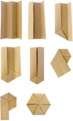 wrapism.com : : How to fold an origata hexagon from wrapism.com