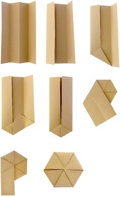 How to fold an origata hexagon from wrapism.com