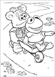 Muppets Fargelegging. Tegninger 59