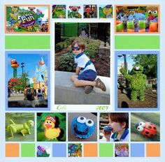 Forest of Fun - Pics of Sesame Street at Busch Gardens. Let the colors in your Surroundings inspire the colors on your scrapbook pages!