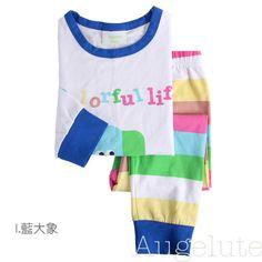 ชุดนอนเด็กแนวเกาหลี ลายช้าง 90 289.00 บาท >>