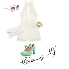 Classy MJ by Christina C. on Polyvore featuring polyvore fashion style Zimmermann Shoes Galore Vera Bradley Juicy Couture Salvatore Ferragamo