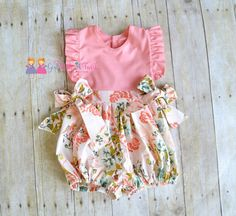 Baby Bubble Romper, Ruffle Romper, Toddler Girls Outfit, Baby Girl Romper, Boutique Outfits, Summer Clothing, Vintage Inspired Romper by GirlWithATwirl on Etsy https://www.etsy.com/listing/294647563/baby-bubble-romper-ruffle-romper-toddler