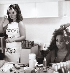spice girls - ginger spice - scary spice (mel b) Ginger Spice Girl, Vanity Makeup Rooms, Vanity Room, Viva Forever, Emma Bunton, Baby Spice, Geri Halliwell, Provocateur, Just Girl Things