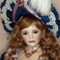 Original, one of a kind, porcelain doll Sculpted and Designed  By Mary Benner