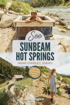 Looking for an easy-to-reach geothermal soak? Sunbeam Hot Springs is a family-friendly, network of pools near Stanley, Idaho. Read about how to reach these geothermal pools in Idaho, and how to have the best visit! #idaho #hotsprings #stanleyidaho #Roadtrip #summer #hiking #camping #salmonriver #sunbeam #mountains #travel #USAtravel #usa #photography #sunset #stanley Riverside Pool, Stanley Idaho, Idaho Hot Springs, Craters Of The Moon, Coeur D'alene, Rafting, Pacific Northwest, Day Trips