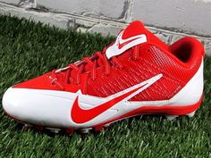 Mens Nike Alpha Pro TD Low Football/Lacrosse Cleats Size 10 Red/White #Nike