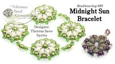 """This video tutorial from The Potomac Bead Company teaches you how to make Theresa Savo-Syetta's """"Midnight Sun"""" bracelet, which clicking """"show more."""" Our Webs..."""
