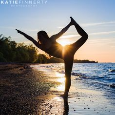 Sunset silhouette from Pilates + Yoga photo session in Rochester, NY | http://www.katiefinnertyphotography.com/blog/2016.3.9.hannah
