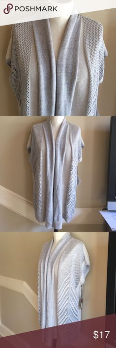 NWT Knox Rose sweater size Medium New with tags Knox Rose pale gray blue cap sleeve sweater wrap size Medium. Knox Rose Sweaters Shrugs & Ponchos