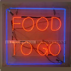 """neon sign -Food to Go 34"""" x 32"""""""
