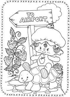 806 best Vintage Shortcake Coloring Books images on Pinterest ...