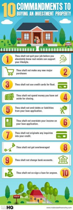10 Commandments To Buying An Investment Property Infographic