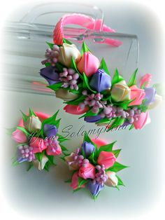 Фотография Ribbon Art, Diy Ribbon, Fabric Ribbon, Ribbon Crafts, Flower Crafts, Satin Flowers, Faux Flowers, Diy Flowers, Fabric Flowers
