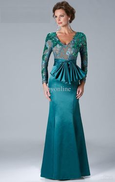 Wholesale 2013 Sexy Blue Evening Dresses Long Sleeves Beaded Mermaid Mother Of The Bride Dresses k135, Free shipping, $123.2-139.44/Piece   DHgate