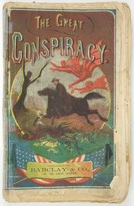 """Rare paperback book published by Barclay & Co., Philadelphia, c. 1866 with Biographical Sketches & Stories of President Lincoln's Assassin, John Wilkes Booth and fellow conspirator, John H. Surratt. """"Startling story and full secret of the assassination plot with John H. Surratt and his Mother"""" (Mary Surratt) & """"Life and Extraordinary Adventures of John H. Surratt, the Conspirator"""".  *s*"""