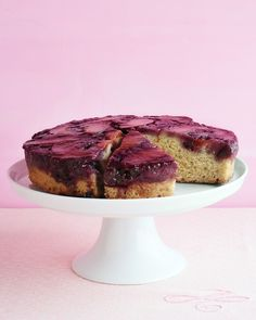Plum Blueberry Upside-Down Cake