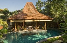 Located in the vibrant area of Seminyak Villa Oost Indies offers a stylish stay. Villa Oost Indies Seminyak Indonesia R:Bali hotel Hotels Indonesian Decor, Indonesian House, Rustic Outdoor Benches, Villa With Private Pool, Backyard Pool Designs, Beautiful Villas, Tropical Houses, Industrial House, Ubud