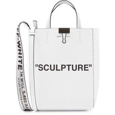 Off-White Medium Sculpture Leather Tote (52.645 RUB) ❤ liked on Polyvore featuring bags, handbags, tote bags, white, purse tote, white tote bag, white leather tote, leather purses and white leather purse
