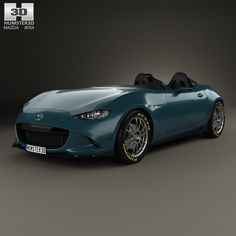 Mazda MX-5 Spyder 2015 3d model from Humster3D.com
