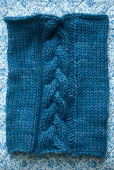 Tutorial & Braided Cowl Pattern for Kids - the purl bee.  Learn how to do this nifty cable step by step.