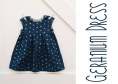 A little bit of my life :: sewing for baby :: geranium dress  Done up in nani IRO using sunshine yellow snaps.