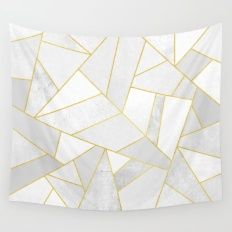 Wall Tapestry featuring White Stone by Elisabeth Fredriksson