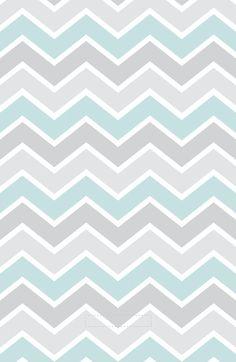 Gray & Aqua Chevron iPhone Wallpaper