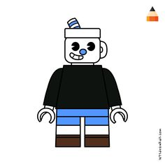 #mugman Drawing Cartoons, Working With Children, Drawing Tutorials, Lego Star Wars, Legos, Lima, Coloring Books, Darth Vader, Fictional Characters