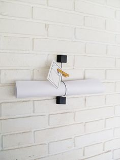 Wall wooden Book holder, Notes holder Available at Etsy