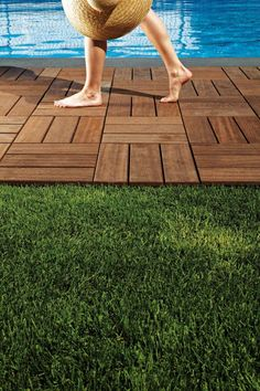 Larideck is a modular outdoor wood flooring system made by Bellotti. Made to fit on almost any surface, its super easy to install and remove - so your wood. click now for info. Outdoor Wood Flooring, Outdoor Tiles, Outdoor Spaces, Outdoor Living, Outdoor Decor, Flooring Ideas, Modern Flooring, Outdoor Food, Backyard Projects