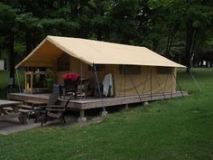 1000 images about semi permanent housing on pinterest for Permanent camping tents