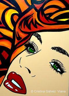 *m.  Pop Art Comic Girl by Cristina Galvez Viana