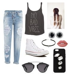 """""""No bad vibes"""" by faith36flipper on Polyvore featuring Billabong, Dsquared2, Converse, Christian Dior, Lime Crime and STELLA McCARTNEY"""
