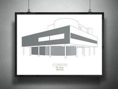 Franceso Ravasio - ARCHIPOSTERS - 1931, Ville Savoye, Le Corbusier