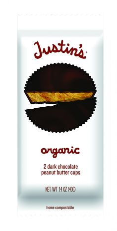 Justin's Nut Butter Organic Peanut Butter Cups - Dark Chocolate - 1.4 oz - Case of 12