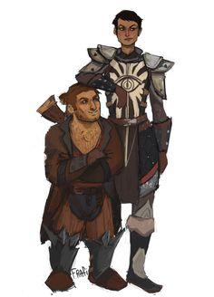 cassandra and varric by frafi.deviantart.com on @DeviantArt | #DragonAge