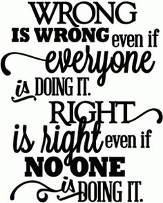 Silhouette Online Store - View Design #46443: right is right - vinyl phrase