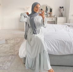 Hijab Fashion Summer, Modest Fashion Hijab, Hijab Style Dress, Modern Hijab Fashion, Modesty Fashion, Street Hijab Fashion, Muslim Fashion, Dress Muslim Modern, Modest Outfits Muslim