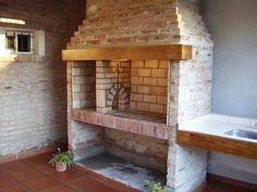 Risultati immagini per parrilla argentina Brick Oven Outdoor, Outdoor Barbeque, Asado Grill, Bbq Grill, Rustic Fireplaces, Home Fireplace, Garden Design Plans, Patio Design, Parilla Grill