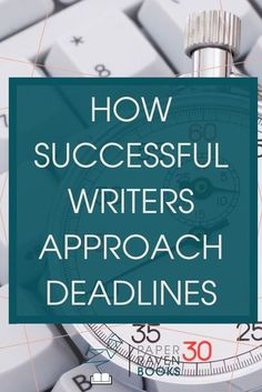 Here's a secret for you: Successful writers don't bend their lives around deadlines; they create their own deadlines that are tighter and harder to meet. And you can too! Check out this post to learn how successful writers approach deadlines! #writing #wr Writing Genres, Fiction Writing, Writing Advice, Resume Writing, Writing Resources, Writing Skills, Writing A Book, Writing Prompts, Writing Ideas