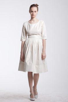 Custom Made Cotton Wedding Dress by Mrs Pomeranz by mrspomeranz, £320.00