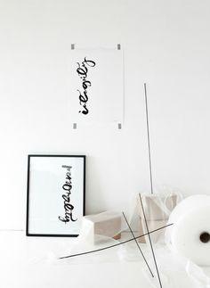 calligraphy prints by ylva skarp found via annaleena's hem.